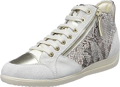 Geox D Myria C, Baskets Hautes Femme: : Chaussures
