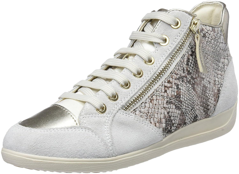 Geox D Myria C, Zapatillas Altas para Mujer 41 EU|Blanco (Off White)