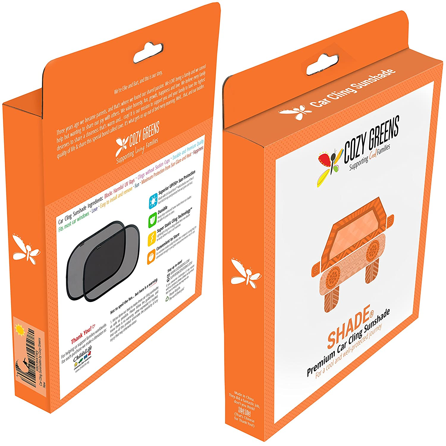 Amazon: Car Window Shade (2 Pack)  Baby Uvsafety Sun Shades  Upf50+   Free Carrying Pouch & Kids Ebook  Static Cling Easy Installation  Cool  And