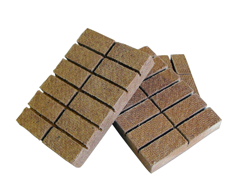 100  Grill Anzünder Holz Kohleanzünder Anzündwürfel  aus Naturholz mit Wachs