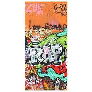Raumteiler Kinderzimmer Graffiti Art 250x120cm Vorhang Flächenvorhang mit Motiv