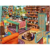 Jigsaw Puzzles for Adults 1000 Piece, Jigsaw Puzzles 1000 Pieces for Adults Teens Kids, Window Cat Jigsaw Puzzles Family Acti