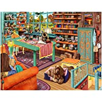 1000 Piece Puzzles for Adults - Difficult Jigsaw Puzzle for Adults Teenagers - Cozy Retreat Windowsill Cat - Challenging…