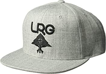 LRG Mens Hustle Trees Logo Flat Bill Snapback Hat