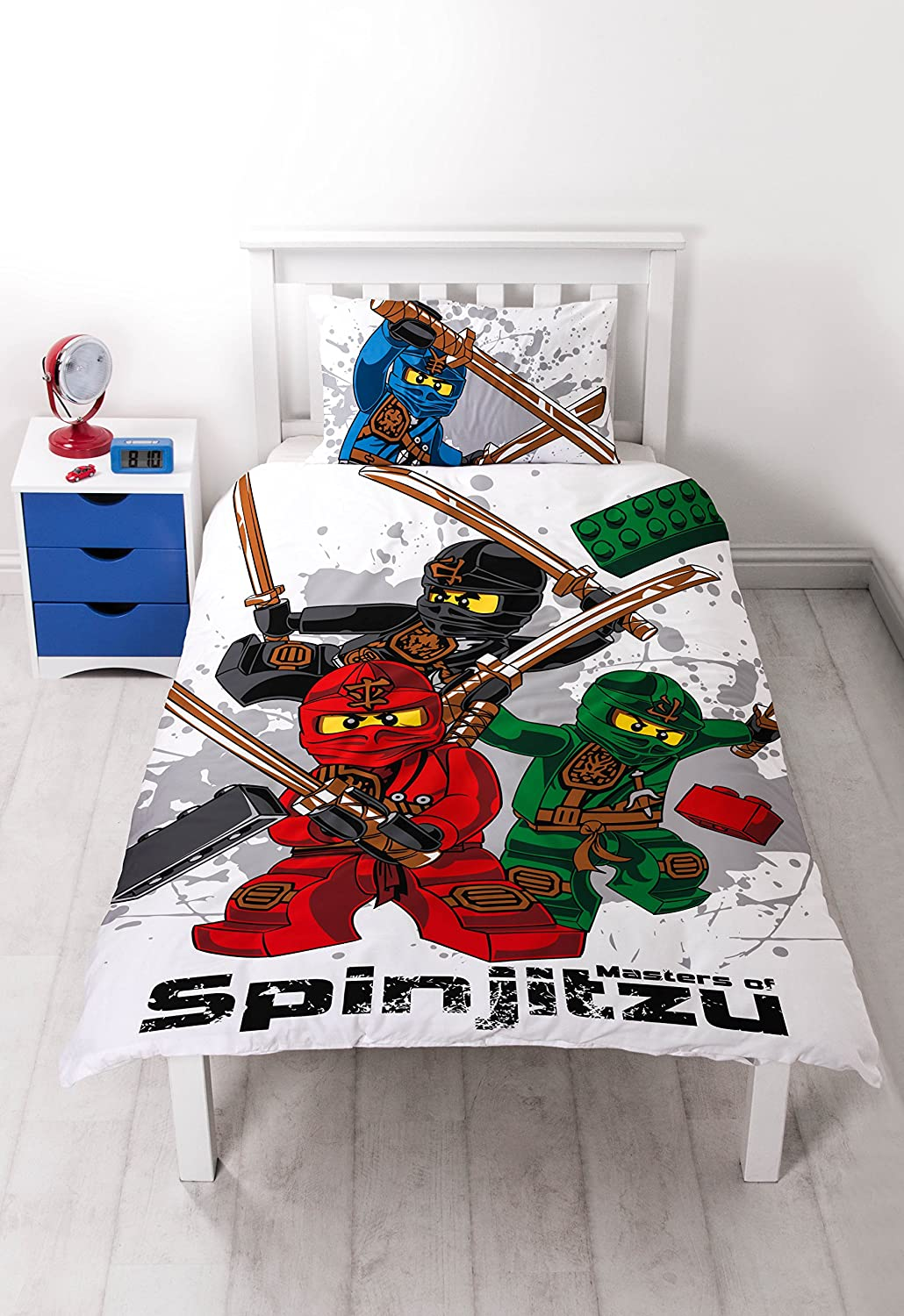 LEGO Ninjago Warrior Panel Print Juego de Funda nórdica, Polyester-Cotton, Single
