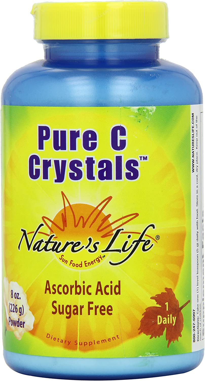 Nature's Life C Crystals, Pure, 5000 Mg, Powder, 8 Ounce