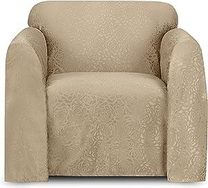 Stylemaster Home Products Rosanna Jacquard Furniture Throw, Chair, Beach