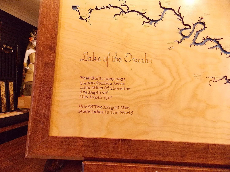 Amazoncom Lake of the Ozarks Missouri Framed Wood Map Wall