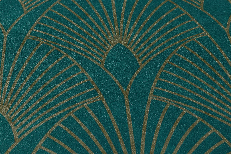 New Walls Vliestapete Art Deco grauweiß silber Metallic 37427-1 3,52€//1qm