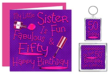 My Little Sister 50th Happy Birthday Gift Set