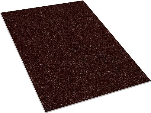 Koeckritz 8 x10 Down Town Brown 25.5 oz 1 2 Thick Plush Cut Pile Indoor Carpet Area Rug
