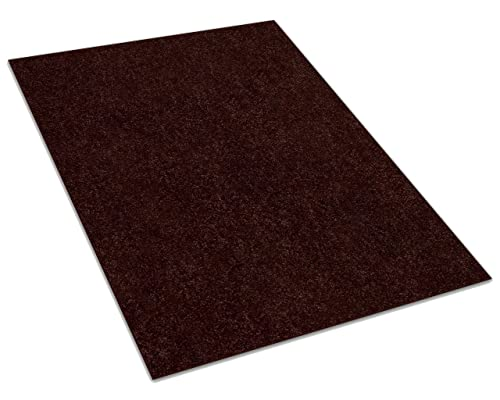 Koeckritz 6 x9 Down Town Brown 25.5 oz 1 2 Thick Plush Cut Pile Indoor Carpet Area Rug