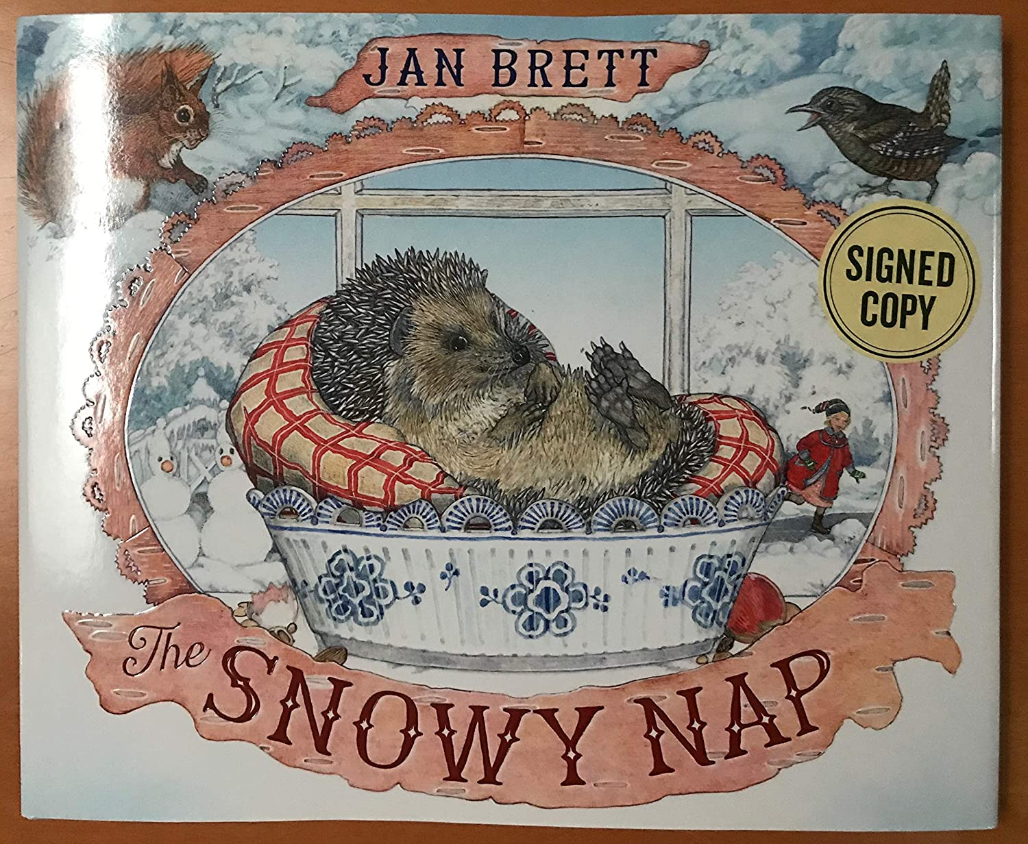 New SIGNED THE SNOWY NAP by JAN BRETT Hardcover