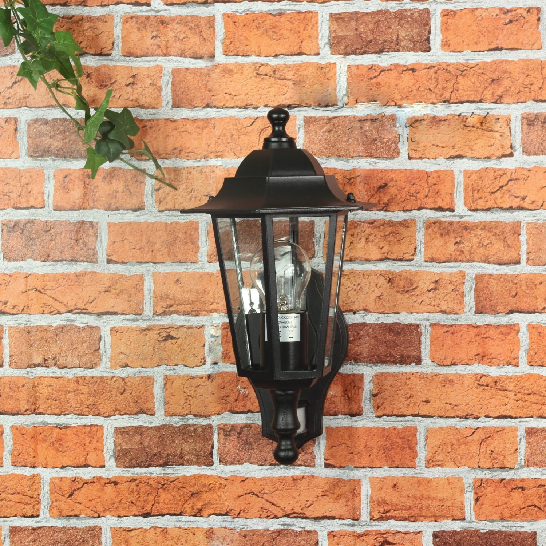 Lámpara de exterior París, de pared, nostálgica, con detector de movimiento / E27, 230 V, IP44 / con sensor ajustable: Amazon.es: Iluminación