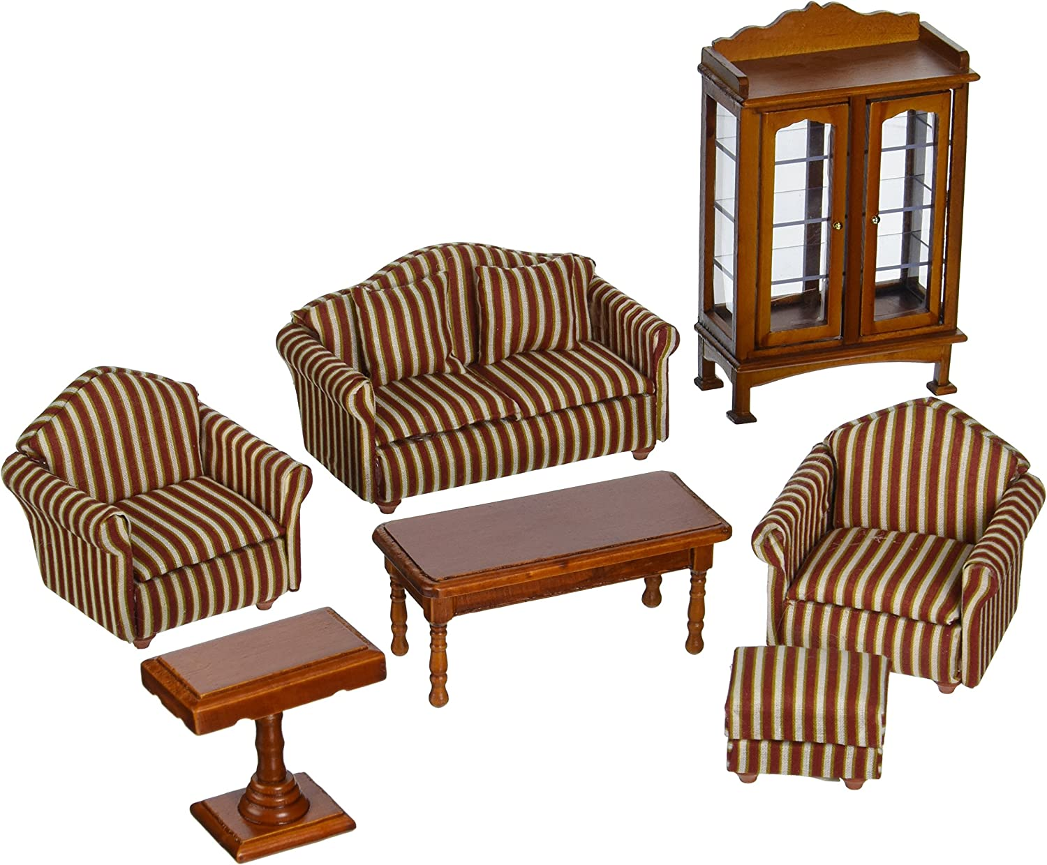 Melissa Doug Classic Victorian Wooden And Upholstered Dollhouse Living Room Furniture 9 Pcs Amazon Ca Toys Games