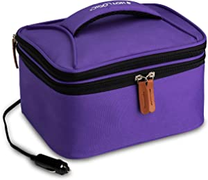 HotLogic 16801174-PUR Food Warming Tote Lunch Bag Plus 12V, Purple