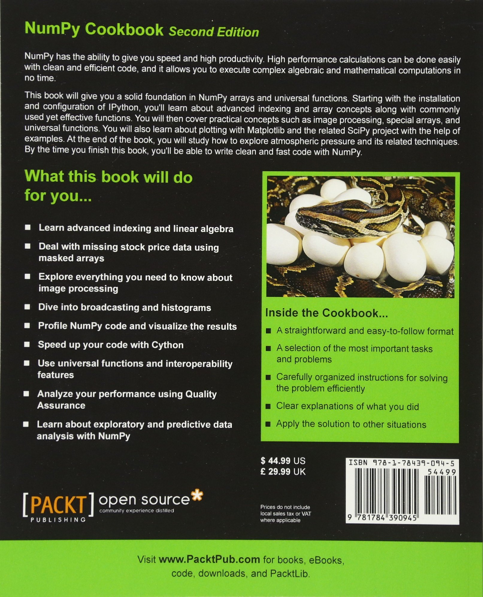 Buy NumPy Cookbook - Book Online at Low Prices in India