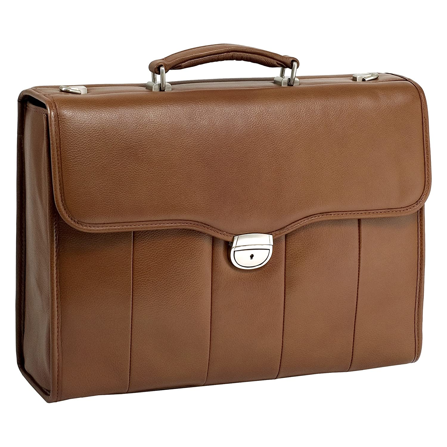 "delicate 15.4"" Brown North Park Leather Laptop Brief"