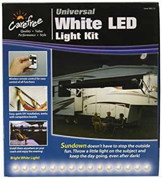 Carefree SR0113 White LED Universal RV Awning Light Kit1 Pack