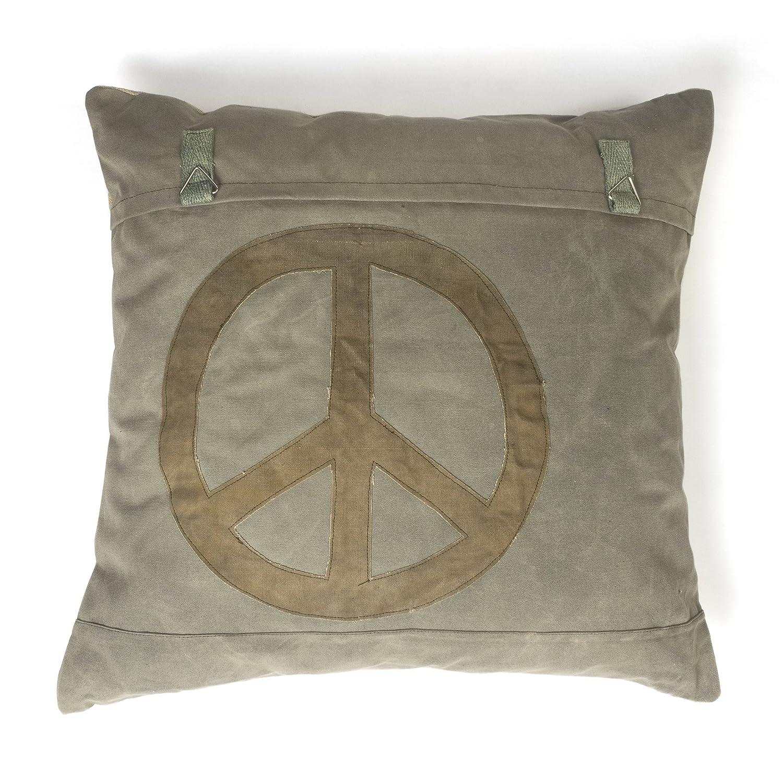 Peace Sign Euro Sham Dust B0723C3LMS