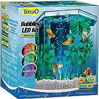 Tetra 29040 1-Gallon Hexagon Aquarium Kit with LED Bubbler