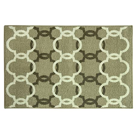 "Bacova Guild Cambridge Stockton Stain Resistant Accent Rug, Beige, 46"" x 32"": Amazon.co.uk: Kitchen & Home"