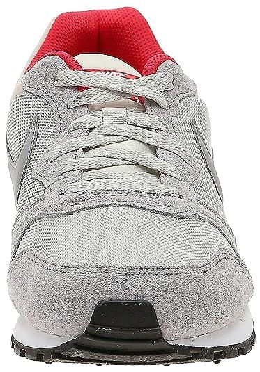 Nike MD Runner 2 light bonematte silveraction redwhite ab