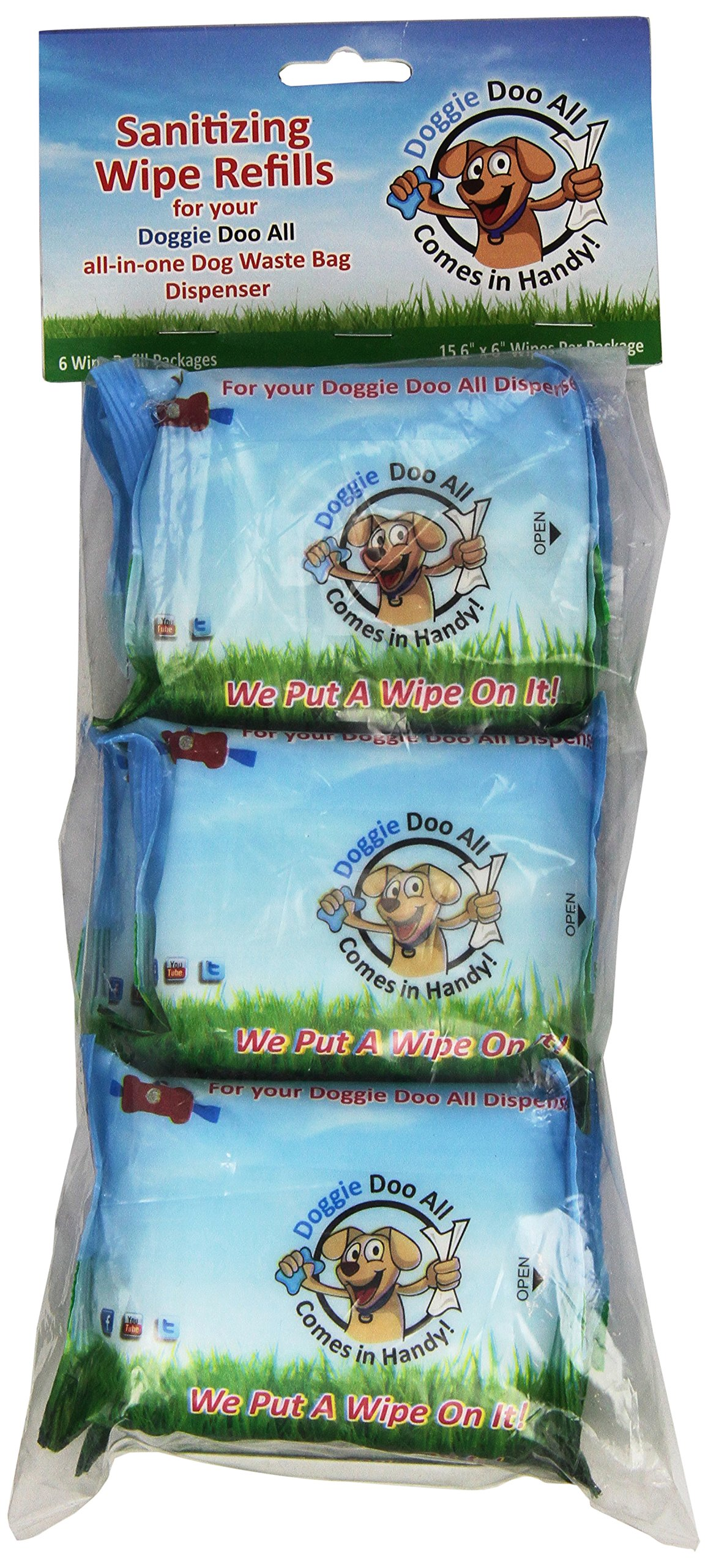 Doggie Doo All Refill Wipes, 6-Pack
