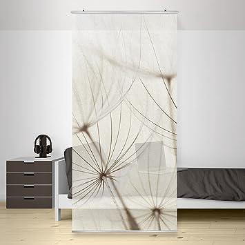 Flächenvorhang Set Sanfte Gräser inkl. Halterung, Größe: 250x120cm ...