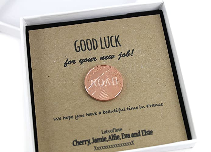 Personalised Lucky Penny Good Luck Coin Gift, Unique Keepsake Gift