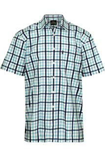 Big Sizes  Short Sleeve Classic Fit Polyester// Cotton Check Shirt 3XL,4XL,5XL