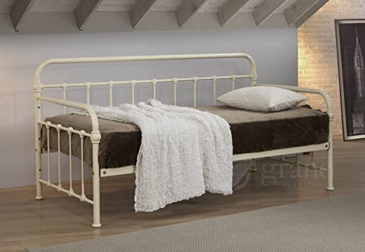 mandy hospital style metal day bed with trundle victorian style 3ft single guest bed frame