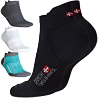 DANISH ENDURANCE Low-Cut Pro Running Socks, Men & Women, Sneaker & Sports Socks (1, 3 & 5 Pack)