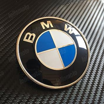 Logo 74 Mm Para Puerta Trasera Emblema, marca alemana azul clasico: Amazon.es: Coche y moto
