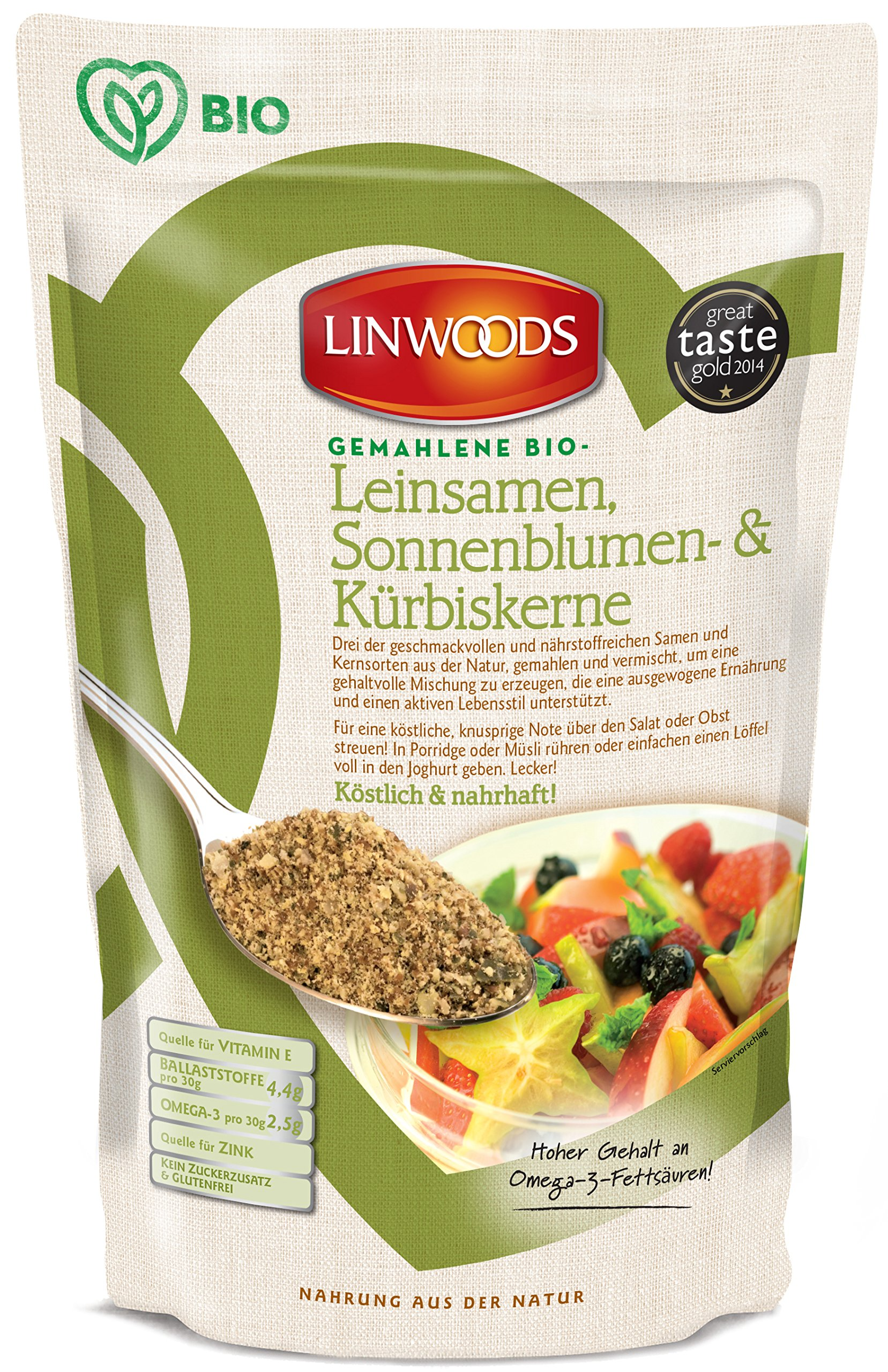 Linwoods Milled Organic Flaxseed Sunflower & Pumpkin Seeds (200g)