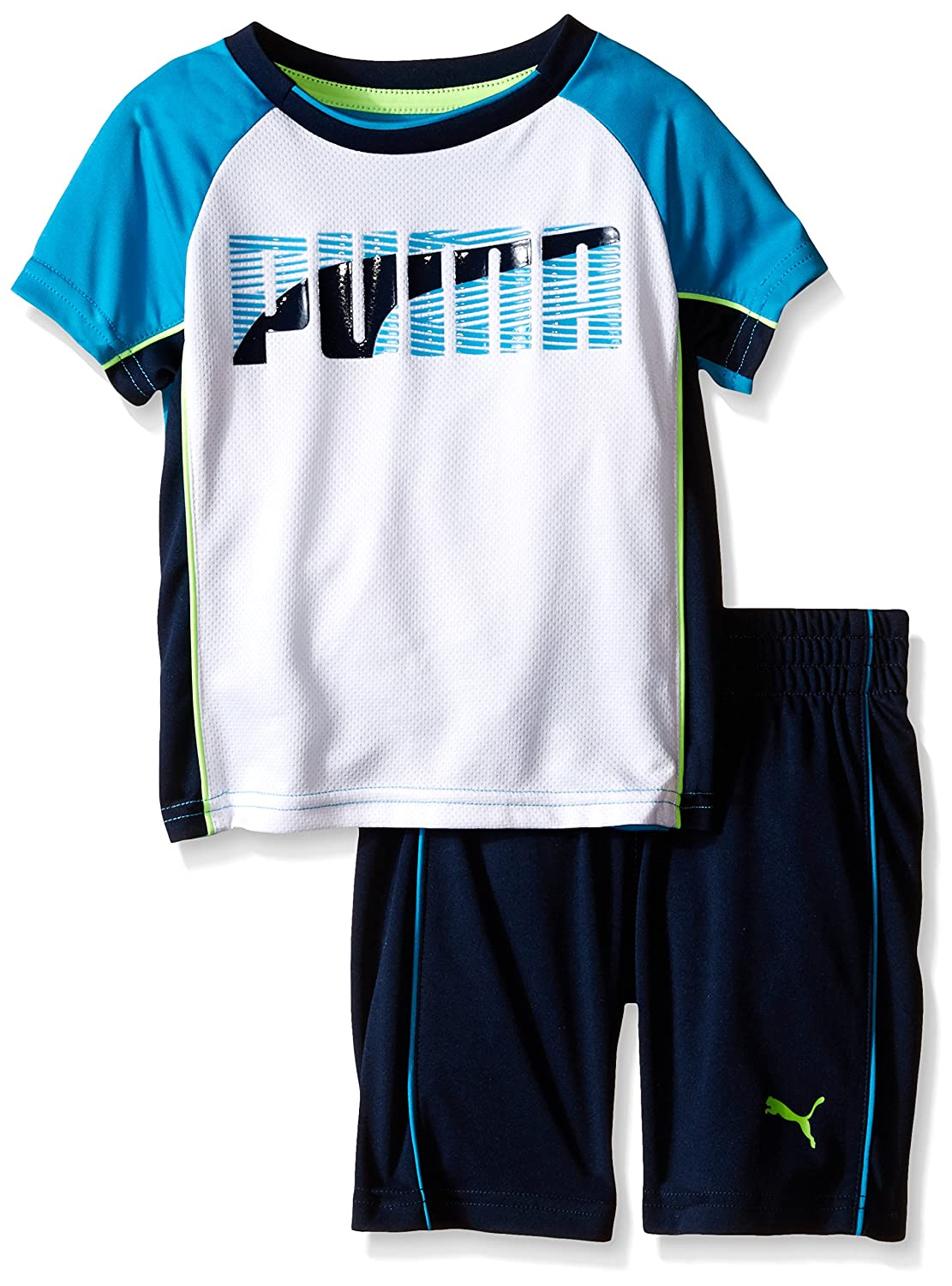PUMA Boys' Stripe Two Piece Set with On Front Of Tee 41165699