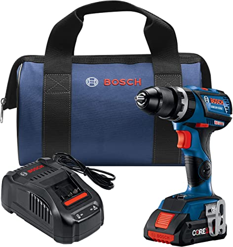 Bosch GSB18V-535CB15 18V EC Brushless Connected-Ready Compact Tough 1 2 In. Hammer Drill Driver with 1 CORE18V 4.0 Ah Compact Battery