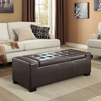 Surprising Amazon Com Rer Large Rectangular Storage Ottoman Bench A Ncnpc Chair Design For Home Ncnpcorg