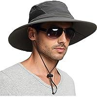 EINSKEY Sun Hat for Men/Women, Wide Brim UV Protection Bucket Hat Foldable Waterproof Outdoor Boonie Cap for Safari…