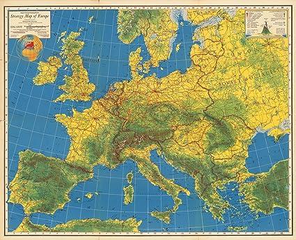 Amazon.com: Major George Fielding Eliot\'s Strategy Map of Europe ...