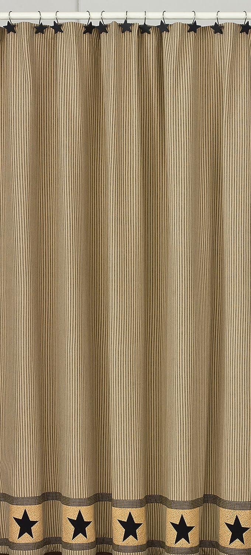 Amazon.com: Park Designs Primitive Star Shower Curtain, 72 by 72 ...