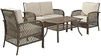 Image Unavailable - Amazon.com : Crosley Furniture Tribeca 4-Piece Outdoor Wicker