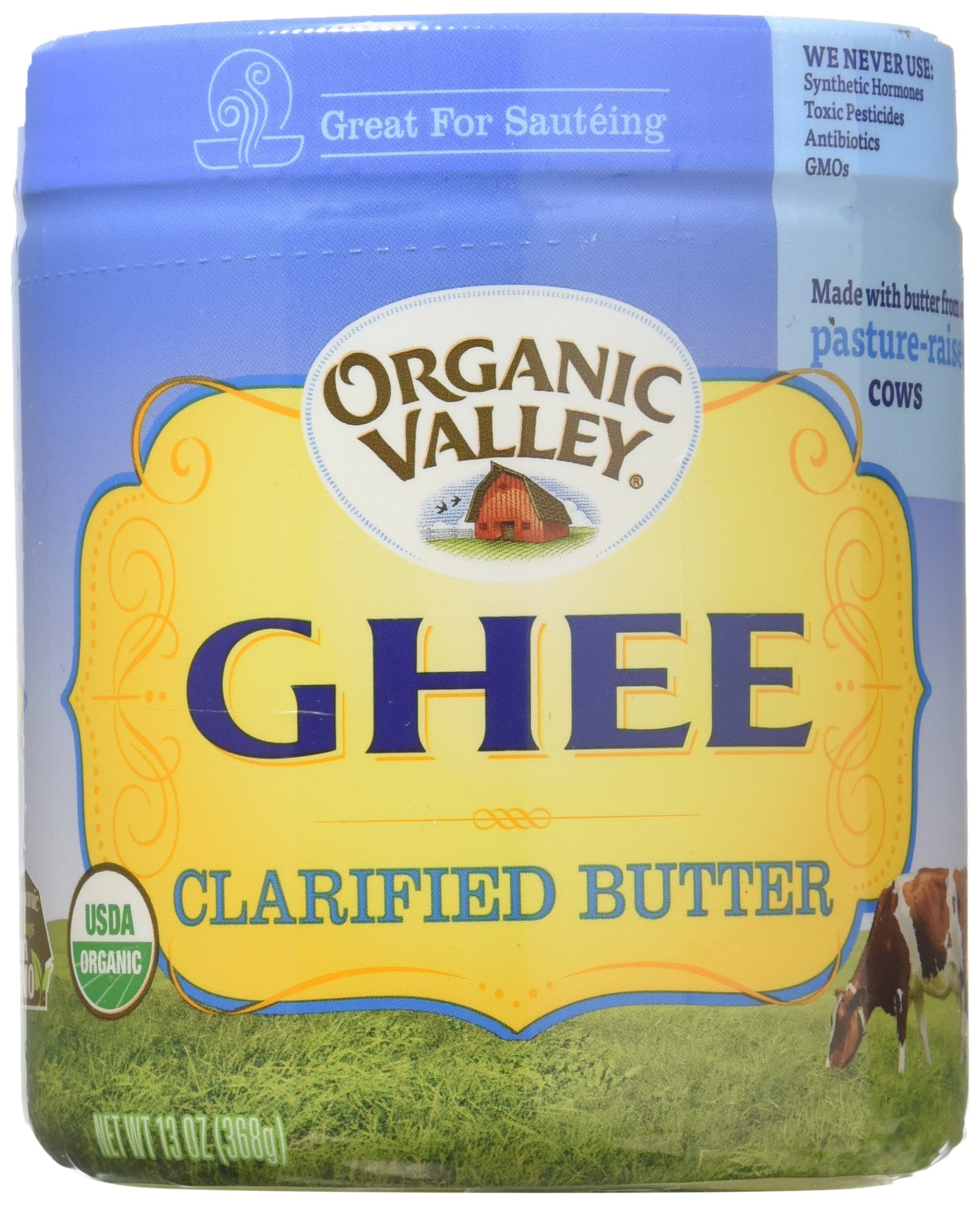 Ghee, 95% organic, Clarified Butter, 13 oz pack of 4