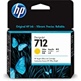 HP 712 Yellow 29-ml Genuine Ink Cartridge (3ED69A) for DesignJet T650, T630, T230, T210 & Studio Plotter Printers
