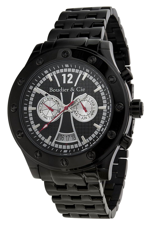 Boudier & Cie Herren Architect Automatic Collection Automatik Armbanduhr mit multifunktionalem Zifferblatt - Analoge Anzeige -