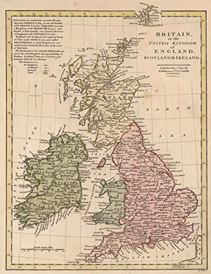 Map Of England Scotland And Ireland.Amazon Com Historic Map Britain Or The United Kingdom Of England