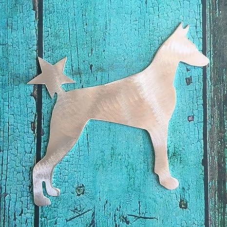 Christmas Doberman Pinscher Dog Doggie Tree Topper Holiday Wreath Decor
