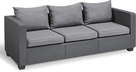 Amazon.com: Keter salta Patio sofá de 3 plazas, Graphite ...