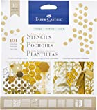 Faber Castell Mixed Media Paper Stencils - 101 Collection - 10 Reusable Graphic Stencils