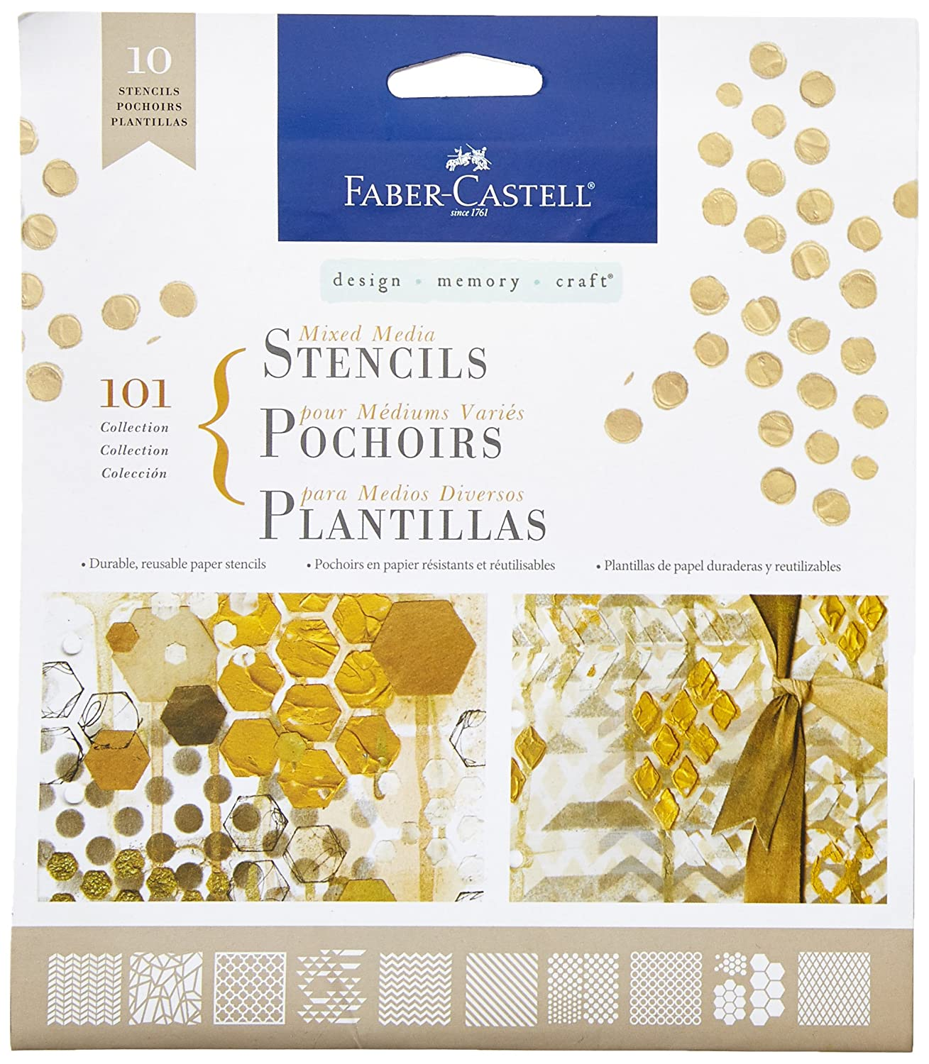 Design Memory Craft Faber-Castell Mix Media Stencils 101 Graphic (FC770600) FABER CASTELL FBR770600